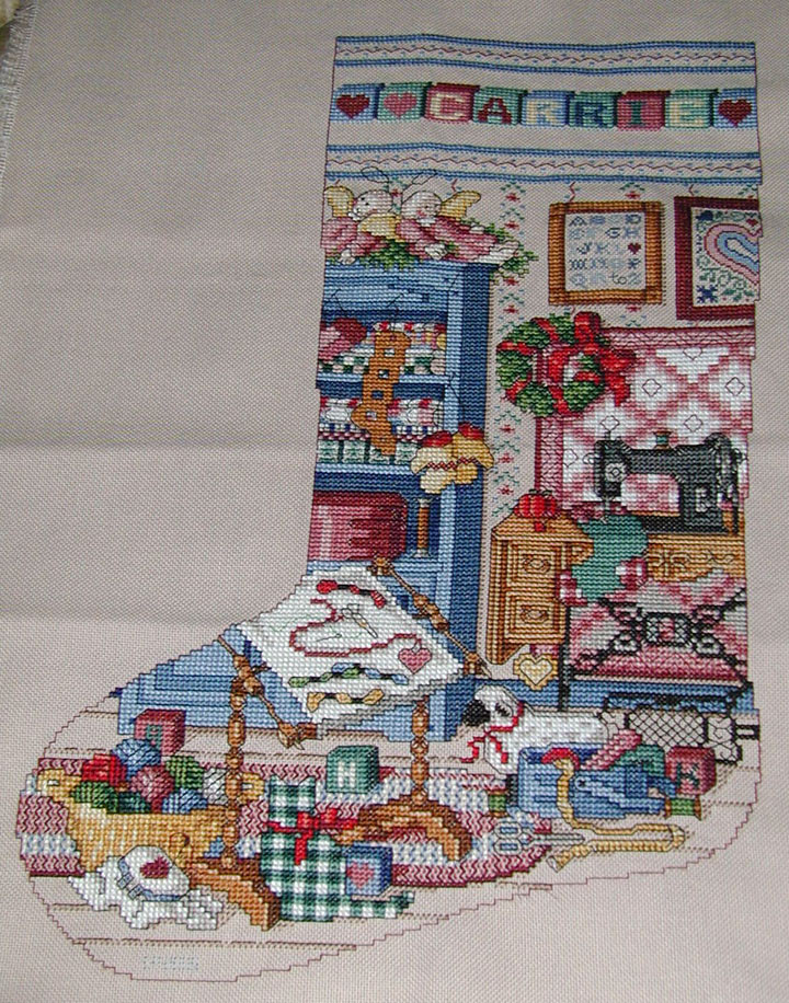 "Carrie's Stocking -""The Stitcher's Studio"""