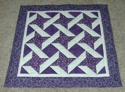 Quilting Assistant : Free Quilt Pattern : Purple Stars And